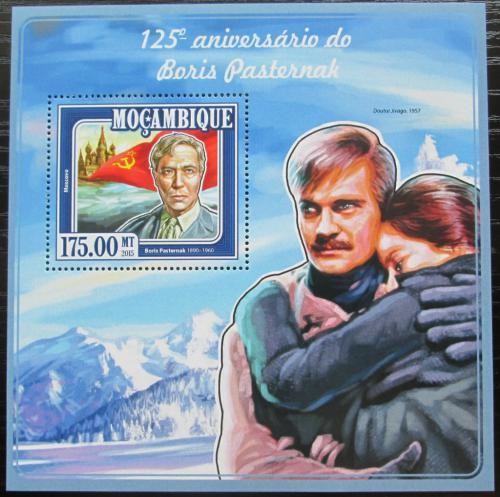 Poštovní známka Mosambik 2015 Boris Pasternak, spisovatel Mi# Block 990 Kat 10€