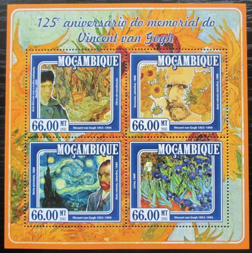 Poštovní známky Mosambik 2015 Umìní, Vincent van Gogh Mi# 7755-58 Kat 15€