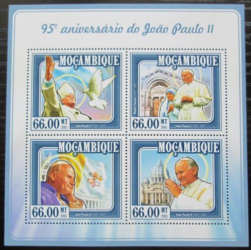 Poštovní známky Mosambik 2015 Papež Jan Pavel II. Mi# 7740-43 Kat 15€