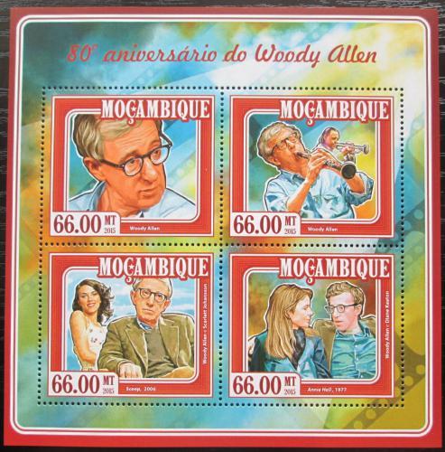Poštovní známky Mosambik 2015 Woody Allen, režisér Mi# 7780-83 Kat 15€