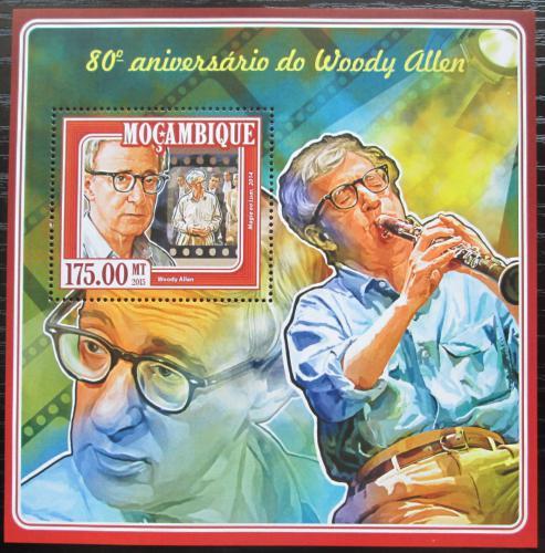 Poštovní známka Mosambik 2015 Woody Allen, režisér Mi# Block 996 Kat 10€