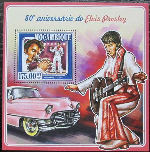 Poštovní známka Mosambik 2015 Elvis Presley Mi# Block 998 Kat 10€