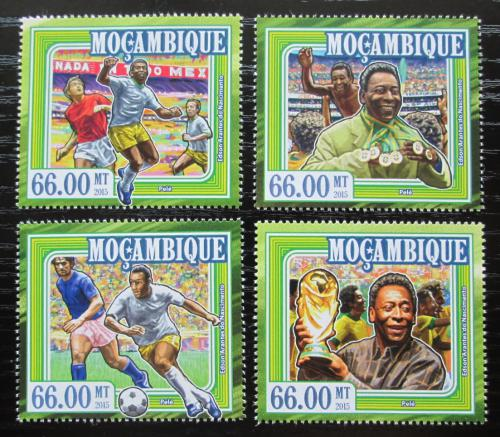 Poštovní známky Mosambik 2015 Pelé, fotbalista Mi# 7800-03 Kat 15€