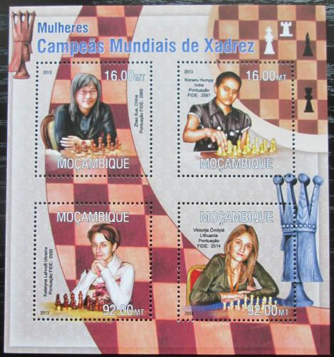 Poštovní známky Mosambik 2013 Slavné šachistky Mi# 6772-75 Kat 13€