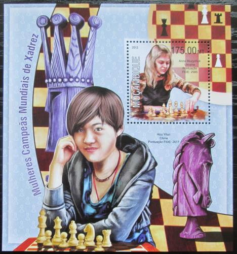 Poštovní známka Mosambik 2013 Slavné šachistky Mi# Block 794 Kat 10€