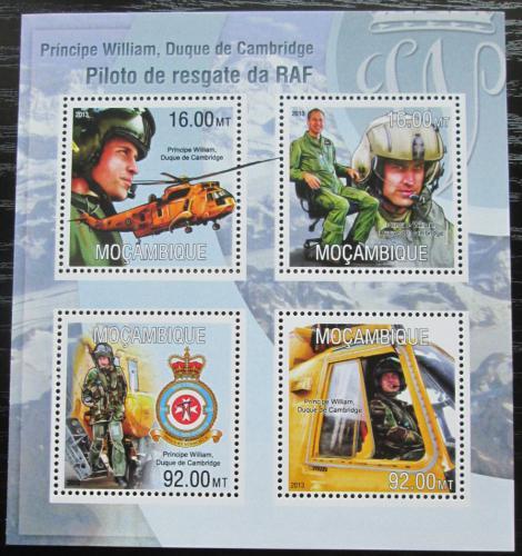 Poštovní známky Mosambik 2013 Princ William Mi# 6767-70 Kat 13€