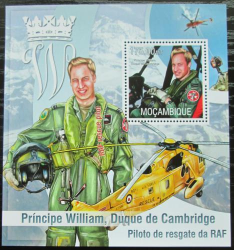 Poštovní známka Mosambik 2013 Princ William Mi# Block 793 Kat 10€