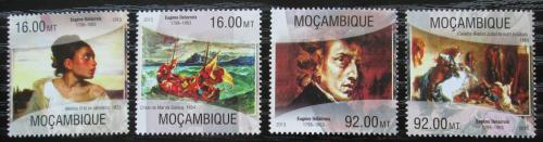 Poštovní známky Mosambik 2013 Umìní, Eugène Delacroix Mi# 6727-30 Kat 13€