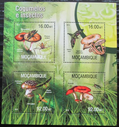 Poštovní známky Mosambik 2013 Houby a hmyz Mi# 6642-45 Kat 13€