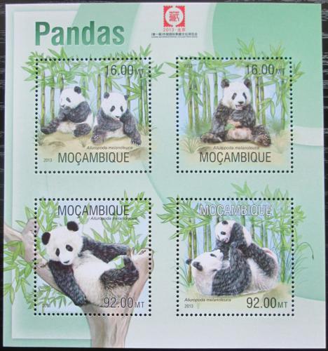 Poštovní známky Mosambik 2013 Pandy Mi# 6692-95 Kat 13€