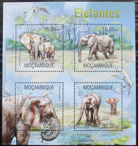 Poštovní známky Mosambik 2013 Sloni Mi# 6697-6700 Kat 13€