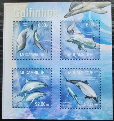 Poštovní známky Mosambik 2013 Delfíni Mi# 6707-10 Kat 13€