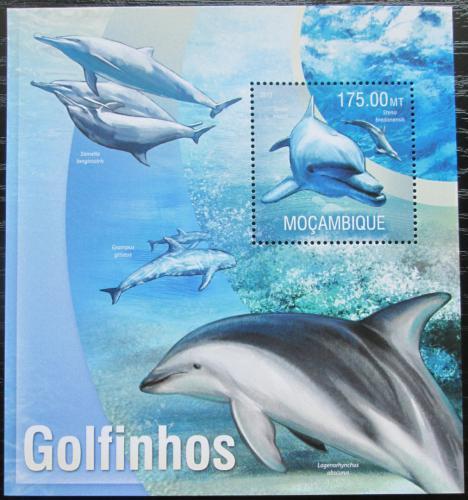 Poštovní známka Mosambik 2013 Delfíni Mi# Block 781 Kat 10€