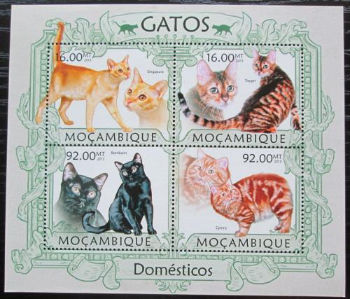 Poštovní známky Mosambik 2013 Koèky Mi# 6294-97 Kat 13€