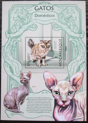 Poštovní známka Mosambik 2013 Koèky Mi# Block 710 Kat 10€