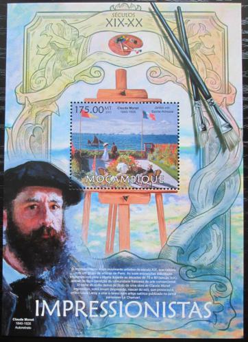 Poštovní známka Mosambik 2013 Umìní, Claude Monet Mi# Block 726 Kat 10€