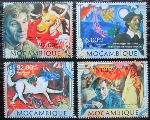 Poštovní známky Mosambik 2013 Umìní, Marc Chagall Mi# 6379-82 Kat 13€