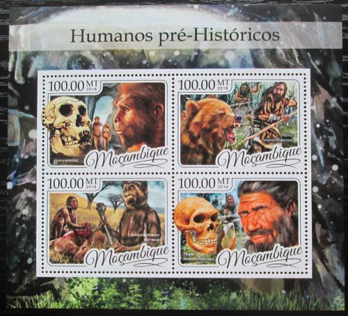 Poštovní známky Mosambik 2016 Prehistorický èlovìk Mi# 8779-82 Kat 22€
