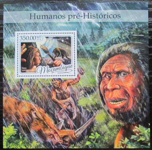 Poštovní známka Mosambik 2016 Prehistorický èlovìk Mi# Block 1196 Kat 20€