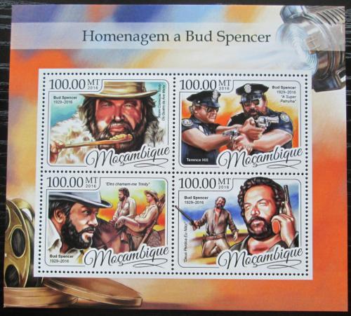 Poštovní známky Mosambik 2016 Bud Spencer, herec Mi# 8844-47 Kat 22€