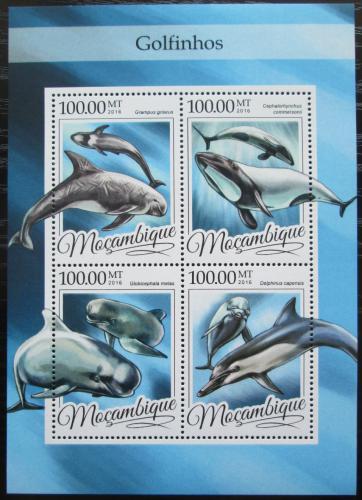 Poštovní známky Mosambik 2016 Delfíni Mi# 8599-8602 Kat 22€