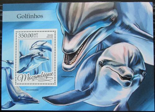 Poštovní známka Mosambik 2016 Delfíni Mi# Block 1160 Kat 20€