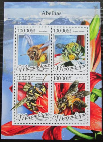 Poštovní známky Mosambik 2016 Vèely Mi# 8614-17 Kat 22€