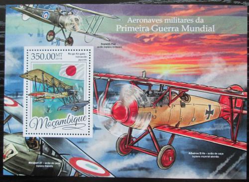 Poštovní známka Mosambik 2016 Váleèná letadla Mi# Block 1165 Kat 20€