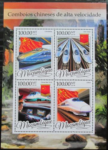 Poštovní známky Mosambik 2016 Moderní èínské lokomotivy Mi# 8634-37 Kat 22€
