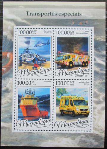Poštovní známky Mosambik 2016 Záchranáøi Mi# 8639-42 Kat 22€