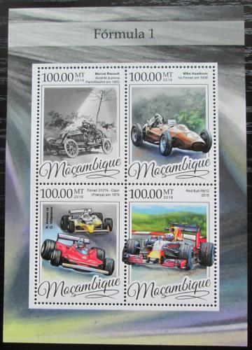 Poštovní známky Mosambik 2016 Formule 1 Mi# 8649-52 Kat 22€