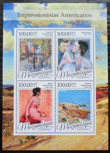 Poštovní známky Mosambik 2016 Umìní, americký impresionismus Mi# 8659-62 Kat 22€