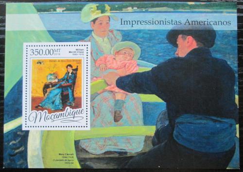 Poštovní známka Mosambik 2016 Umìní, americký impresionismus Mi# Block 1172 Kat 20€