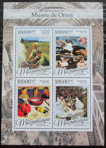 Poštovní známky Mosambik 2016 Umìní, Muzeum Orsay Mi# 8664-67 Kat 22€