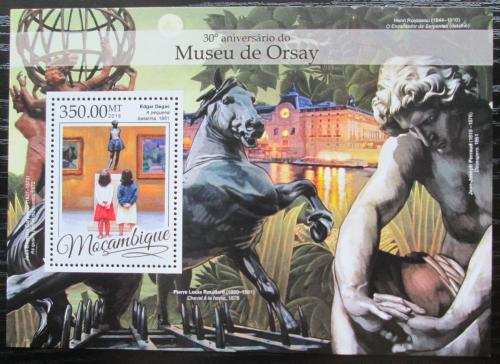 Poštovní známka Mosambik 2016 Umìní, Muzeum Orsay Mi# Block 1173 Kat 20€
