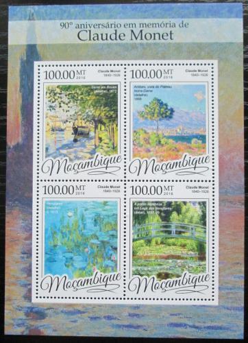 Poštovní známky Mosambik 2016 Umìní, Claude Monet Mi# 8654-57 Kat 22€