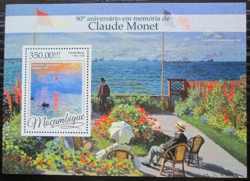 Poštovní známka Mosambik 2016 Umìní, Claude Monet Mi# Block 1171 Kat 20€