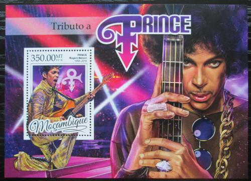 Poštovní známka Mosambik 2016 Prince, hudebník Mi# Block 1174 Kat 20€