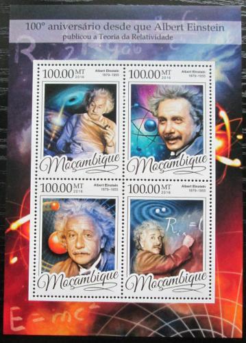 Poštovní známky Mosambik 2016 Albert Einstein Mi# 8679-82 Kat 22€