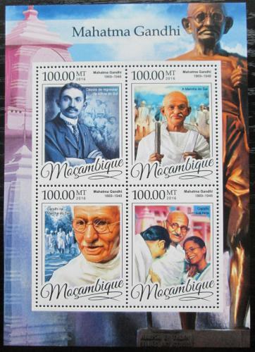 Poštovní známky Mosambik 2016 Mahátma Gándhí Mi# 8684-87 Kat 22€