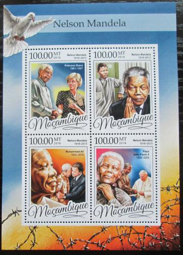 Poštovní známky Mosambik 2016 Nelson Mandela Mi# 8689-92 Kat 22€