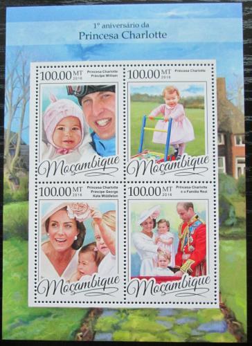 Poštovní známky Mosambik 2016 Princezna Charlotte Mi# 8699-8702 Kat 22€