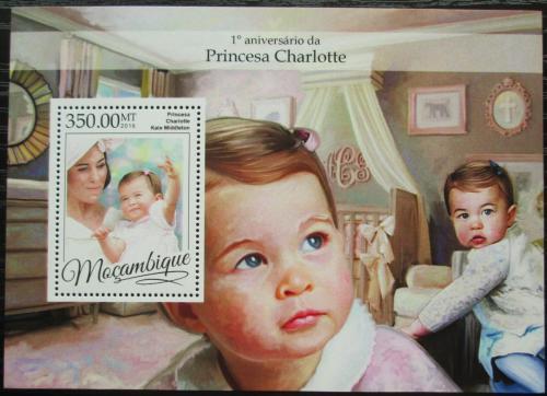 Poštovní známka Mosambik 2016 Princezna Charlotte Mi# Block 1180 Kat 20€