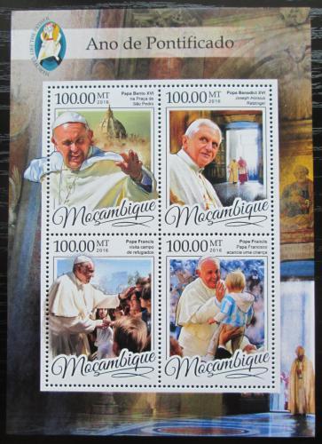 Poštovní známky Mosambik 2016 Papež František Mi# 8709-12 Kat 22€