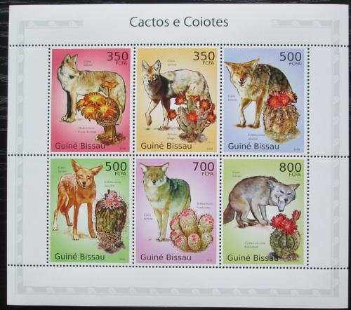 Poštovní známky Guinea-Bissau 2010 Kojoti a kaktusy Mi# 5009-14 Kat 13€