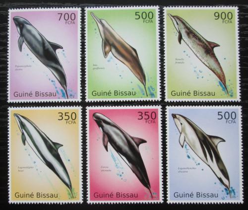 Poštovní známky Guinea-Bissau 2010 Delfíni Mi# 5033-38 Kat 13€