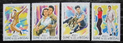Poštovní známky Guinea-Bissau 2015 Elvis Presley Mi# 7649-52 Kat 14€