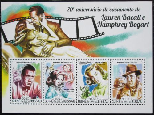Poštovní známky Guinea-Bissau 2015 Lauren Bacall a Humphrey Bogart Mi# 7659-62 Kat 13€