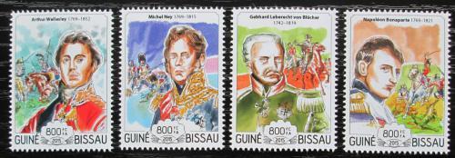 Poštovní známky Guinea-Bissau 2015 Bitva u Waterloo, Napoleon Mi# 7702-05 Kat 13€