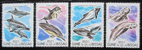 Poštovní známky Guinea-Bissau 2015 Delfíni Mi# 7720-23 Kat 14€
